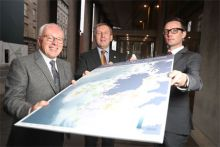 Minister Creed presented with The Atlas of Commercial Fisheries around Ireland. Photo by Jason Clarke.
