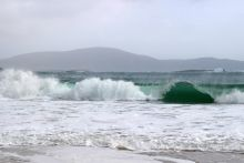 Crashing Waves at Keem Bay, Achill Island, Co.Mayo. Photograph © Daniel Farrell and Ann Robinson, Coast Monkey