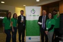 Get Greener Team with Peter Heffernan, CEO and John Killeen, Board Chairperson. Photo Cushla DromgoolRegan