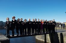 Marine Institute Singers pictured with their conductor, Carmel Dooley. Photographer Andrew Downes