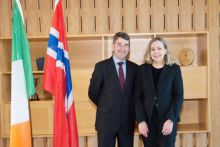 The Marine Institute hosts Norwegian Ambassador's visit to Galway