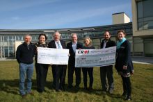 Marine Institute presents donations to Oranmore Community Development Association and Croi. L2R: Sean Connolly, Kathleen Sweeney (MI) Tom Broderick, Paul Tucker (OCDA) Rosemarie Butler (MI) Luigi Ryan (Croi) and Dolores Kilroe (OCDA). Photograph: Cushla Dromgool-Regan