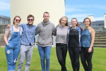 Bursar Group Oranmore – Grace English, Mico Kinneen, Eoin Conroy, RoisÍn Dobey, Amanda Egan and Louisa Sinclair at Marine Institute headquarters in Oranmore.
