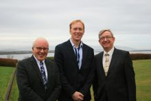 Dr Paul Connolly, CEO, Marine Institute, Dr Stephen Hynes, director of SEMRU, NUI Galway and Prof Ciarán Ó hÓgartaigh, President of NUI Galway at the opening of the 10th Annual Marine Economics and Policy Research Symposium held in the Marine Institute, Oranmore.