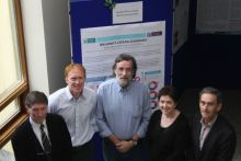The Beaufort Marine Awards Principle Investigators Prof. Tom Cross, Dr. Stephen Hynes, Prof. Dave Reid, Prof. Fiona Regan and Prof. Alan Dobson at the Sea Change Researchers Workshop at the Marine Institute as part of SeaFest 2016.