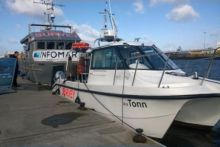 Minister of State Joe McHugh TD lauched the INFOMAR Programme's new survey vessel, naming her the RV TONN at the Poolbeg Yacht, Boat Club & Marina.