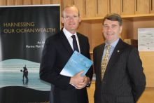 Minister Simon Coveney and Dr Peter Heffernan SEMRU Ocean Energy Report