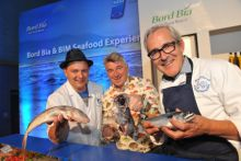 Chefs Michael O'Meara from Oscar's Bistro in Galway, Martin Shanahan from Fishy Fishy Café, Kinsale, and Rory O'Connell from Ballymaloe Cookery School will each host demos at the BIM/Bord Bia Seafood Extravaganza at SeaFest, which takes place in Galway Harbour this weekend (2 & 3 July).