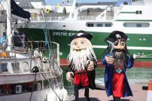 Pirate puppets in Galway for SeaFest 2018. Photo: Jason Clarke.
