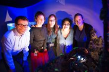 Build Your Own Unknown launched at Seafest 2017. LtoR: Dr Andy Wheeler, UCC; Artist Louise Manifold, Joanna McGlynn, Tulca; Cushla Dromgool-Regan, Marine Institute and Denise McDonagh.Photograph Andrew Downes, Xposure