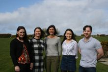Presenters at VIVALDI information day: L to R: Katrina Campbell (QUB), Me, Isabelle Arzul (IFREMER), Michaela Fox (QUB), Owen Donohoe (NUIG / AIT). Absent was Sharon Lynch from UCC. Photograph Cushla Dromgool-Regan